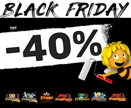 40% KORTING: Black Friday bij Plopsa!