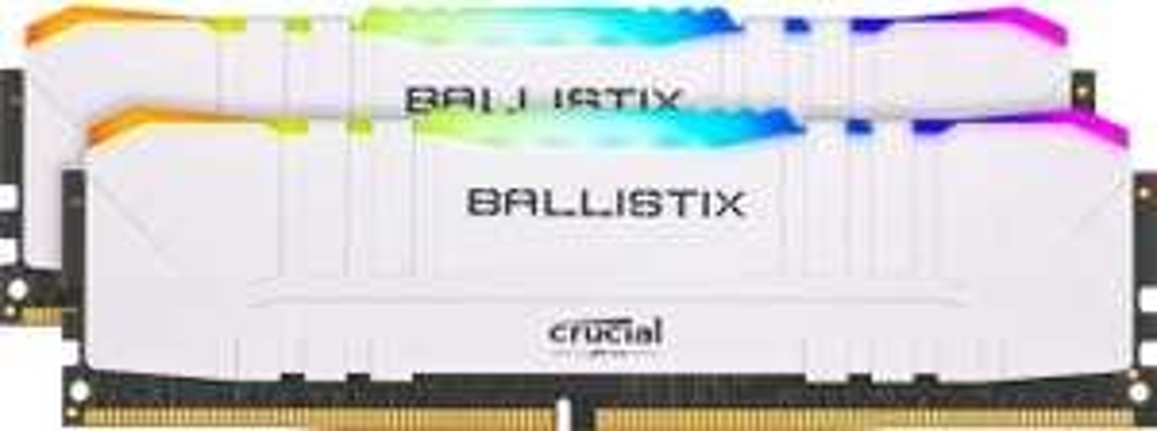 16 GB Crucial Ballistix DDR4, 3200 MHz, Wit