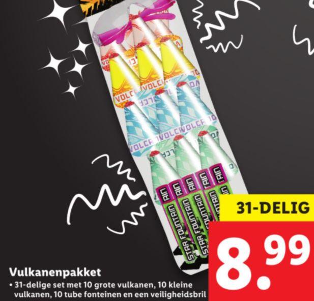 F1 Vuurwerkpakketten @ Lidl bijvoorbeeld Volcanenpakket voor €8,99