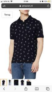 Scotch & Soda heren poloshirt Classic pique polo with mini all-over print