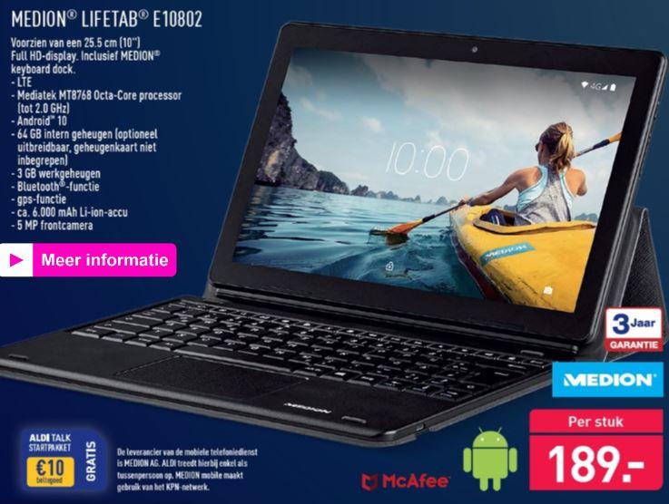4G Medion Lifetab TabletPC (E10802) €189 @ Aldi