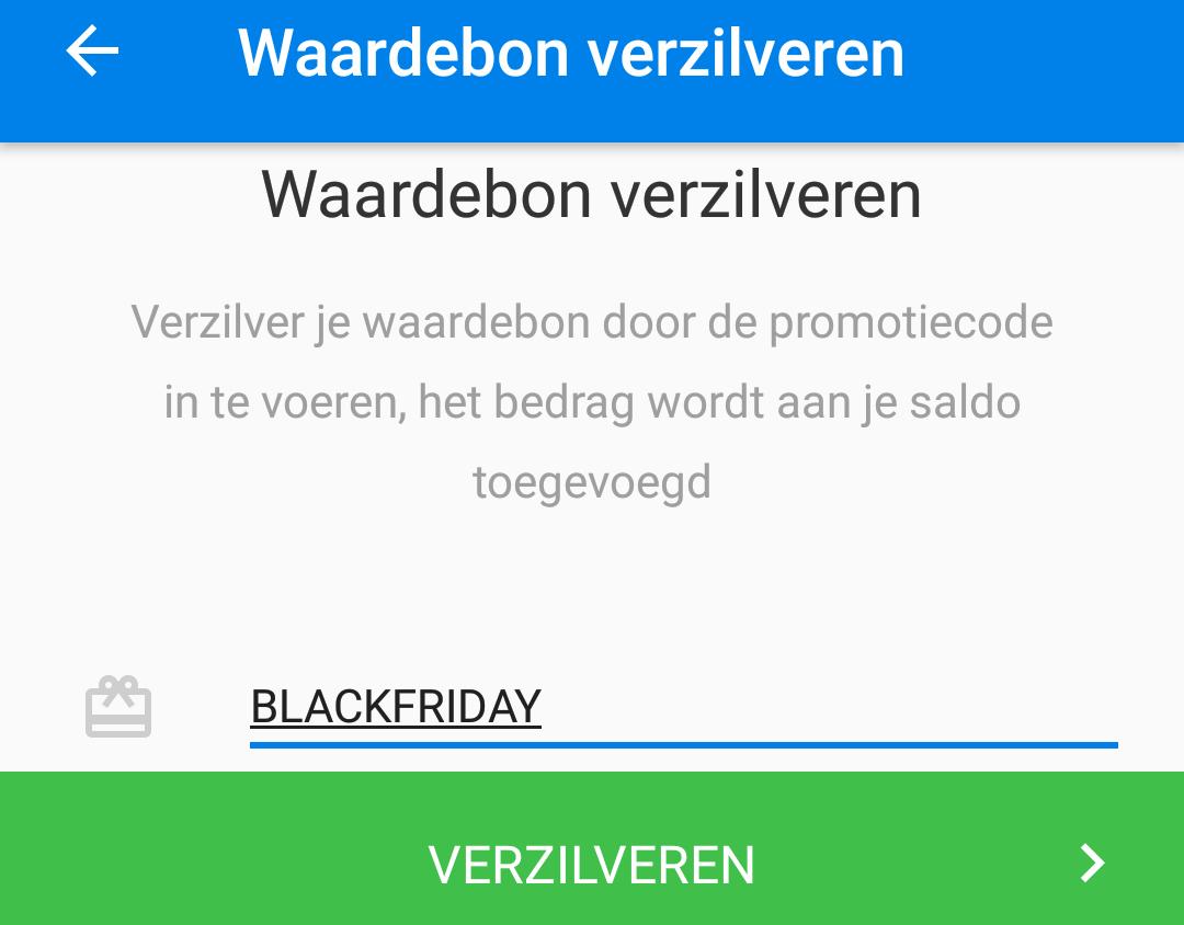 €2,50 korting bij Social Deal met code BLACKFRIDAY