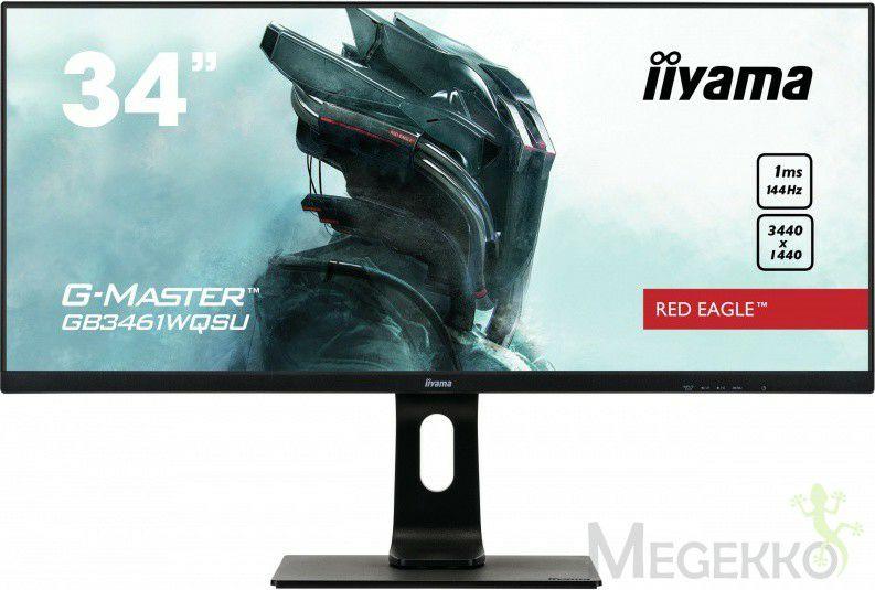 """iiyama 34"""" TFT GB3461WQSU-B1 144Hz monitor"""