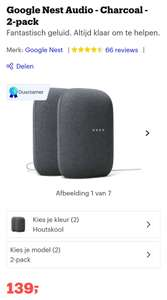 €139 Google nest audio duo pack