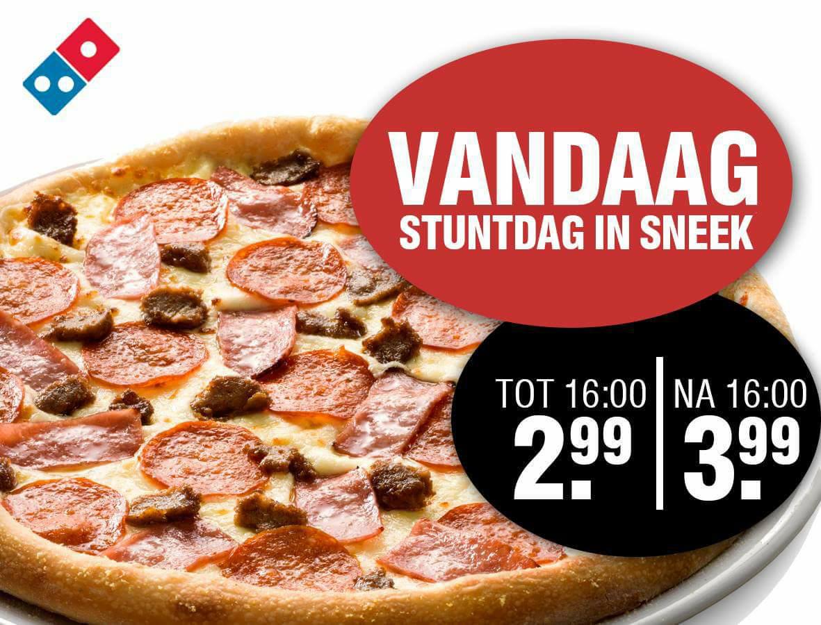 Vandaag 08/01 pizza voor €3,99 @ Domino's Sneek