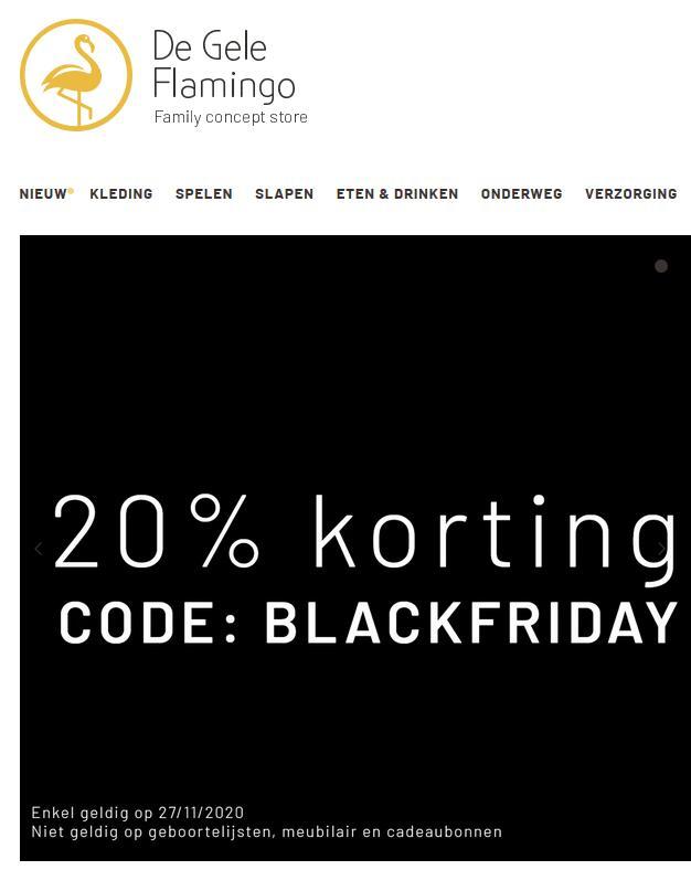 """20% korting bij """"De Gele Flamingo"""" Family Concept Store"""