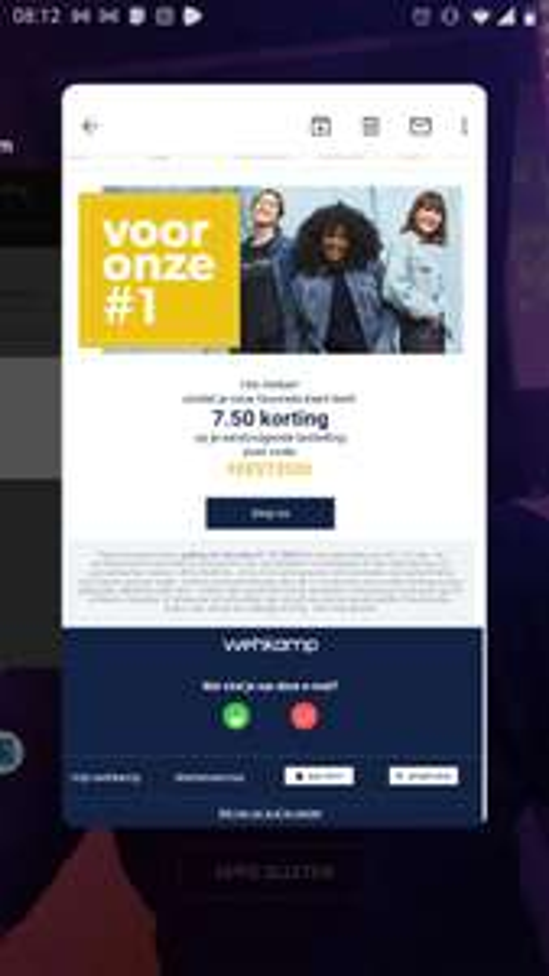 Wehkamp 7,50 korting vanaf €40