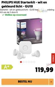 Philips Hue White and Color Ambiance GU10 Starterkit - Bluetooth!