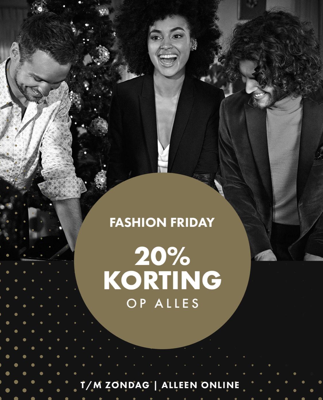 20% BF korting bij WE fashion + 10 EURO EXTRA KORTING!