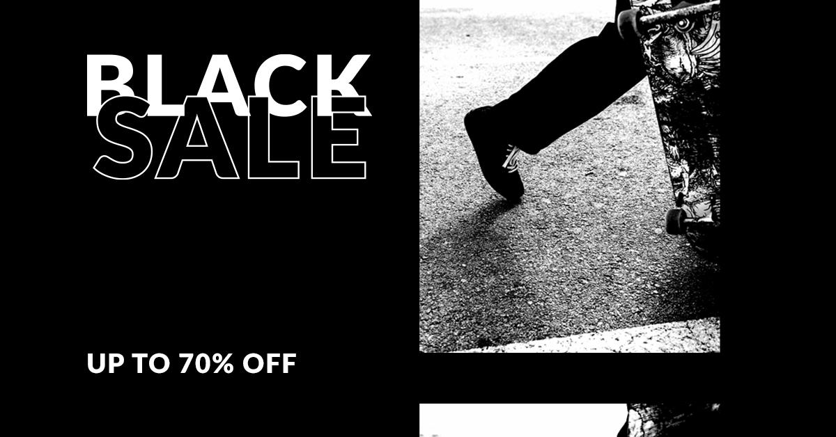 Extra 30% korting op Black Sale producten @ SkateDeluxe