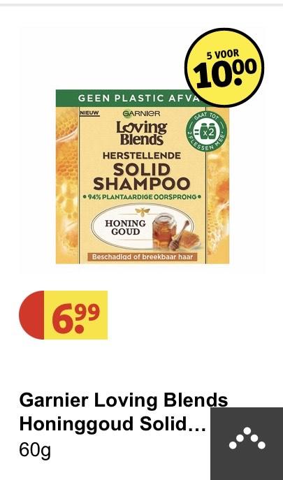 Loving blends shampoo bar 5 voor 10 euro!