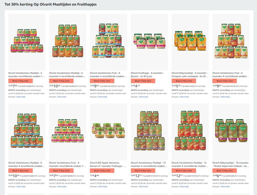 Tot 30% korting Op Olvarit Maaltijden en Fruithapjes