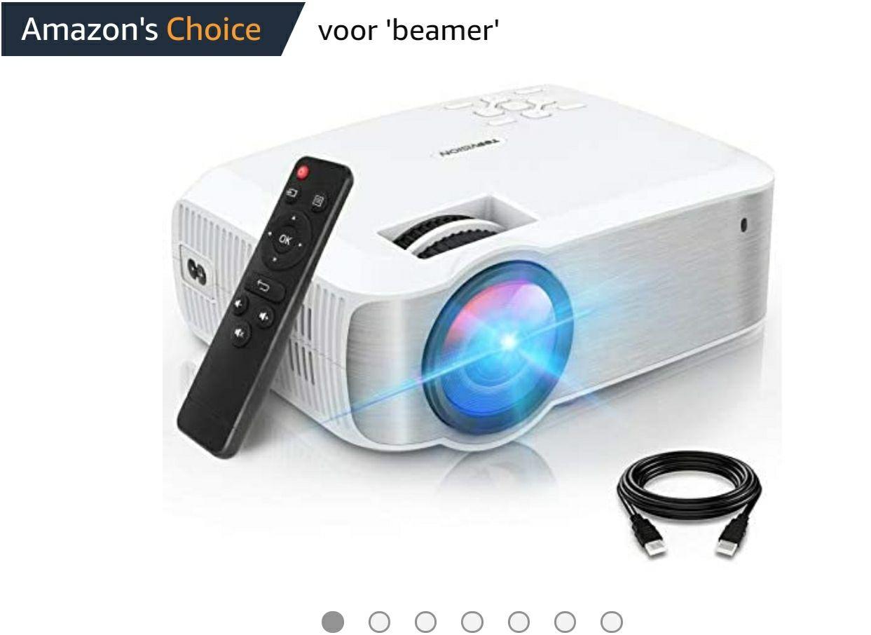 TOPVISION Mini Beamer, Native 1080P Home Cinema Beamer