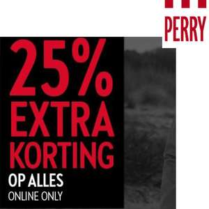 Cyber Monday: 25% [EXTRA] korting op ALLES @ Perry