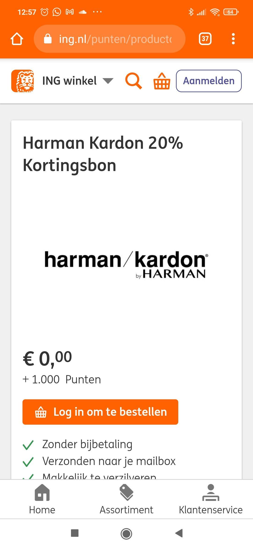 20% korting in de Harman Kardon official webshop