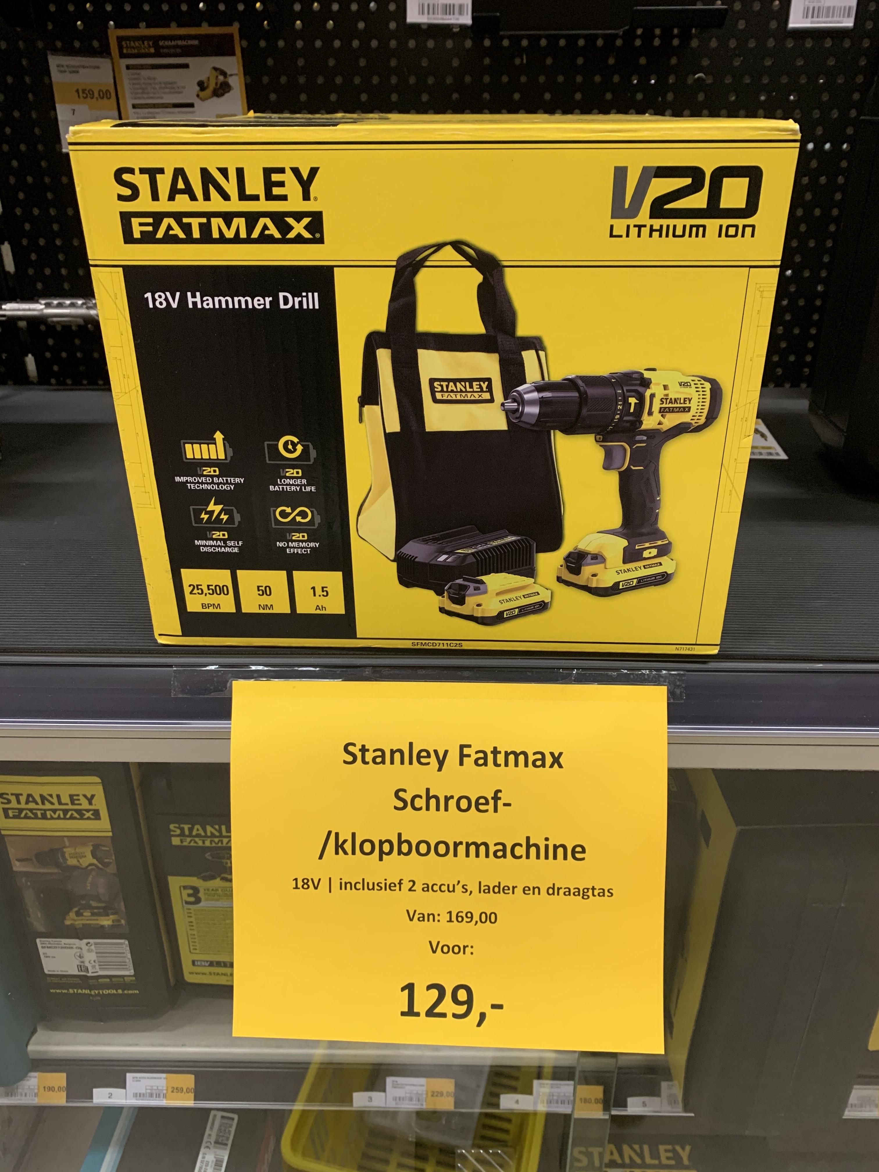 Lokaal Hubo Werkendam: Stanley Fatmax Schroef/klopboormachine