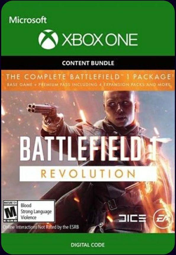 Battlefield 1 revolution + Battlefield 1943 (xbox one, digital key)