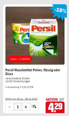 Persil Wasmiddel voor €4,29 bij HIT Duitsland