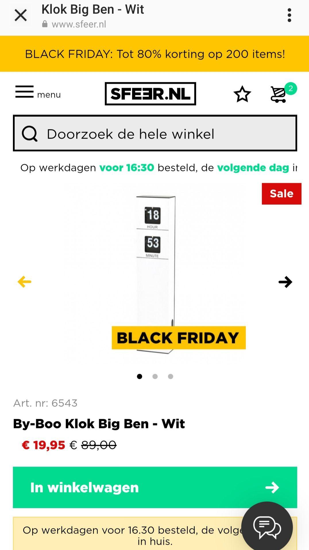 Sfeer.nl Black Friday sale