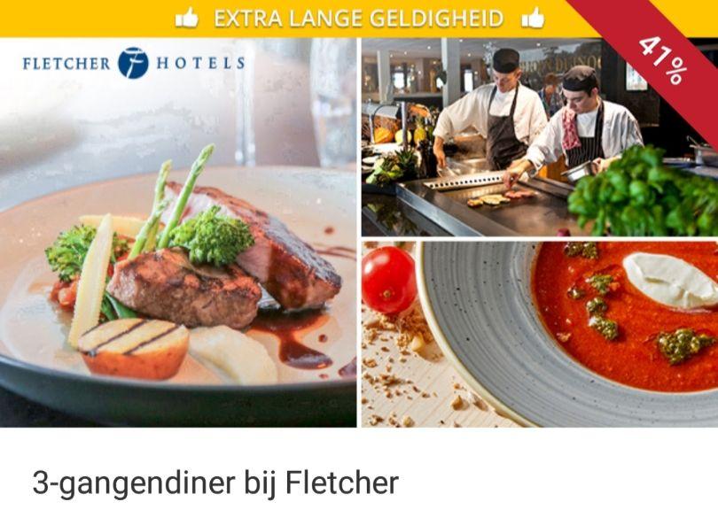 3-gangen menu bij Fletcher Hotels