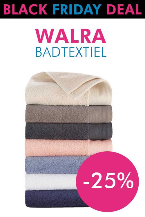 Black Friday/Cyber Monday: 25% korting op Walra handdoeken & washandjes