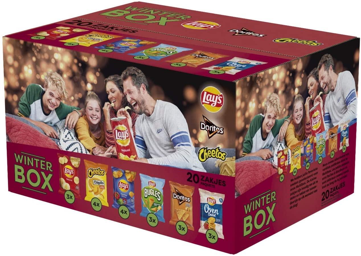 Lay's WinterBox 20 kleine zakjes chips voor €5,99