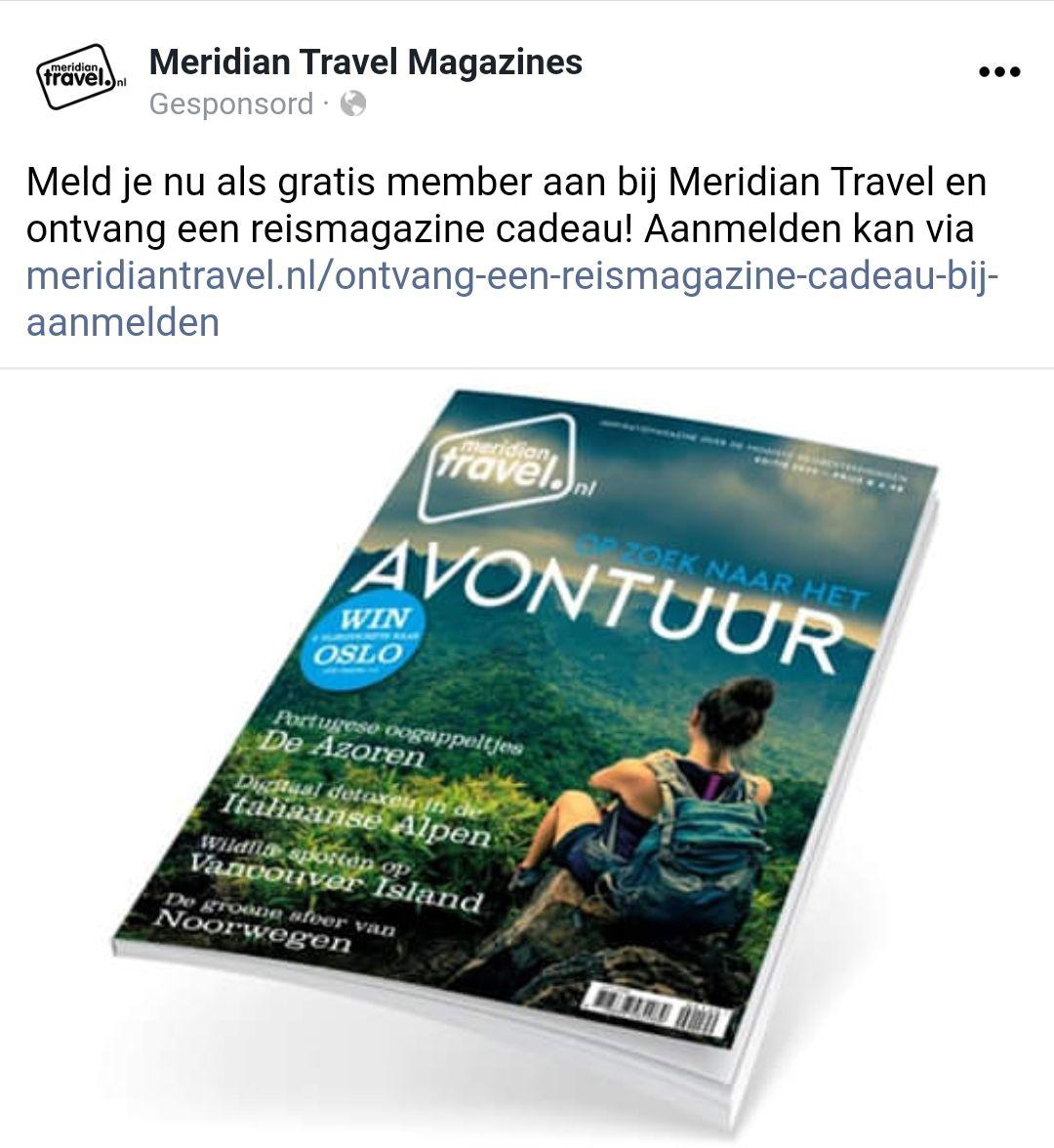 Gratis reismagazine Meridian Travel