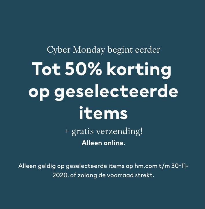 H&M cybermonday -50% sale