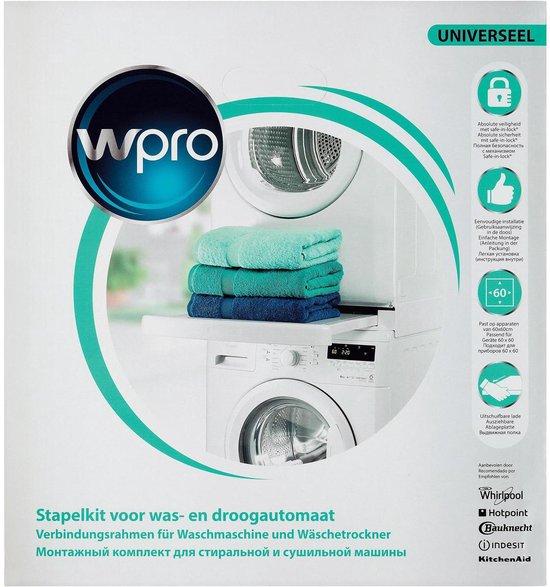 WPRO SKS101 Universele stapelkit voor wasmachine & droger combinatie
