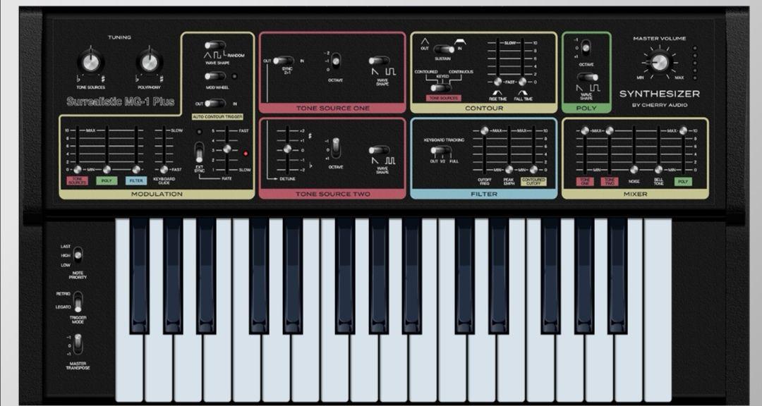 Cherry Audio Surrealistic MG-1 Plus synth plugin