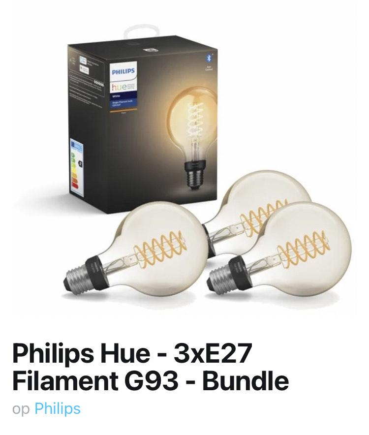 3x Philips Hue G93 Filament