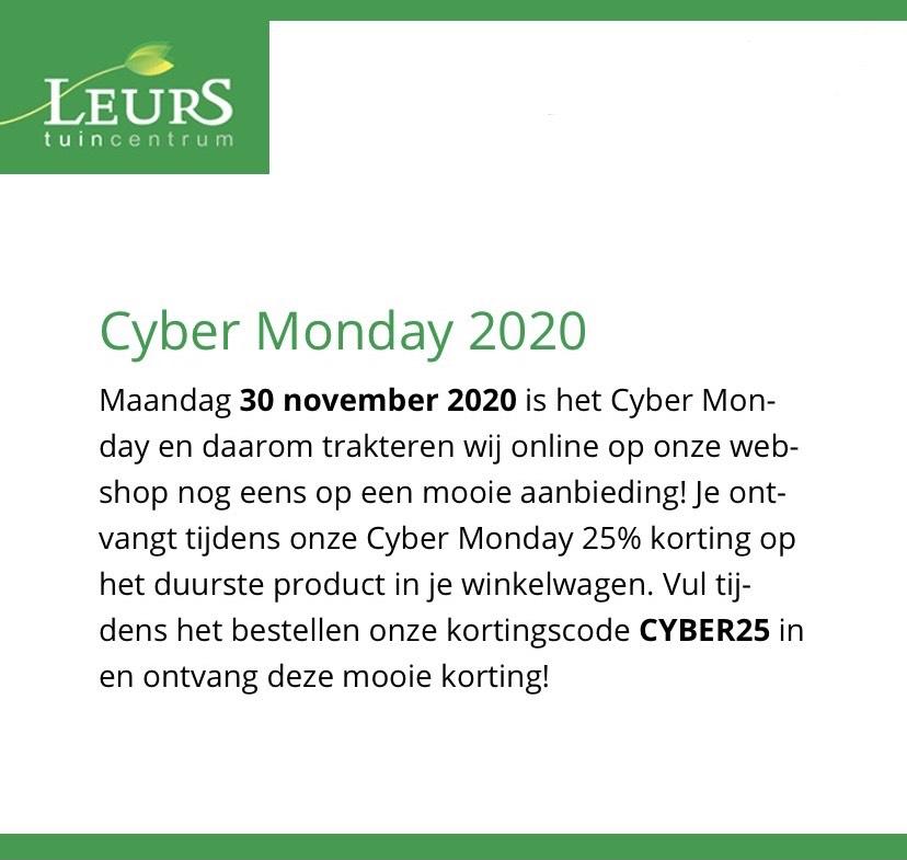 Cyber Monday bij Tuincentrum Leurs