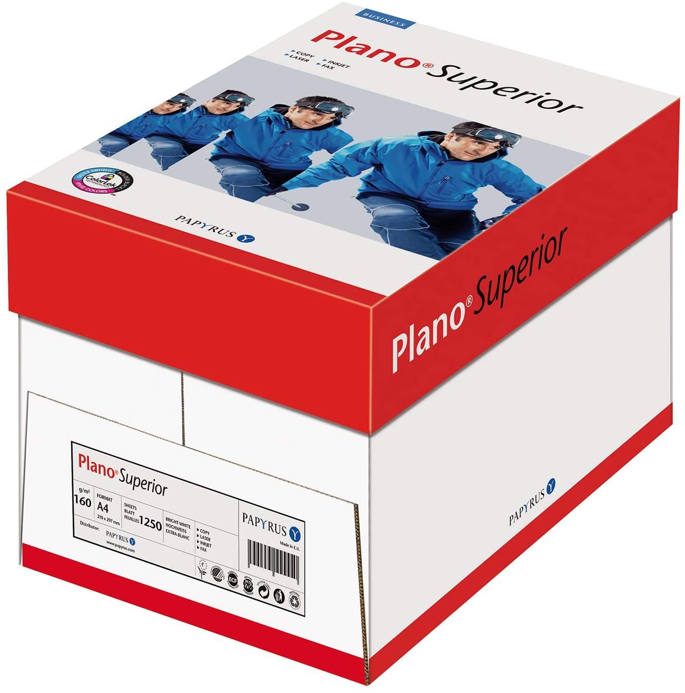 Papyrus PlanoSuperior A4 kopiëerpapier 160gr/m2 5x250 vellen voor €9,05 bij Amazon.nl
