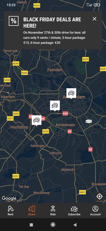 SIXT Alle deelauto's nu voor 9 ct per minuut. Voor Amsterdam is dit goedkoop! SIXT APP ONLY