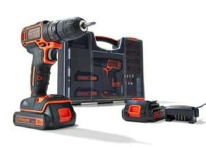 Black+Decker accuboormachine BDC718AS2O-QW + 80-delige accessoireset