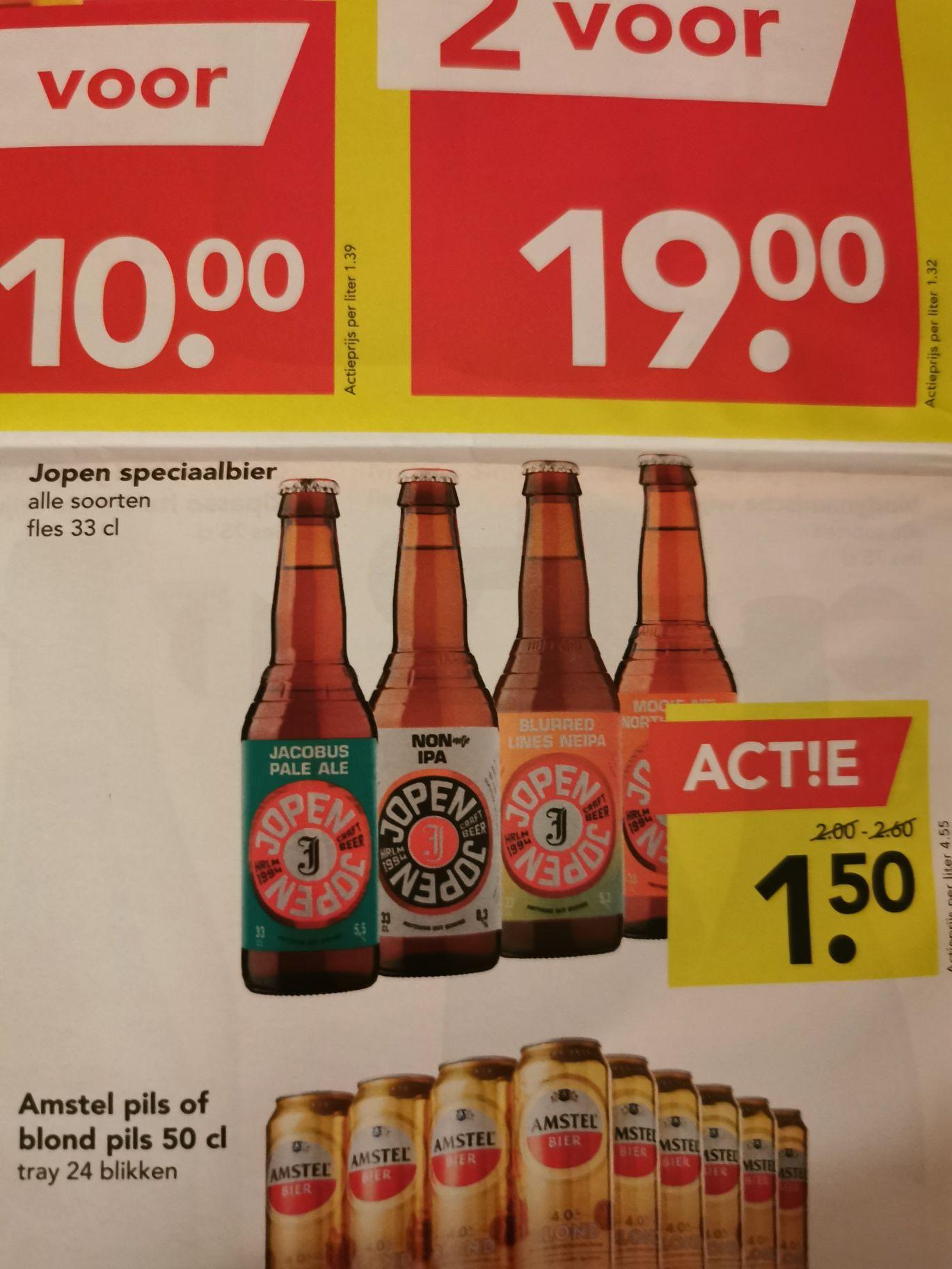 Jopen speciaal bier voor 1,50 @Deen