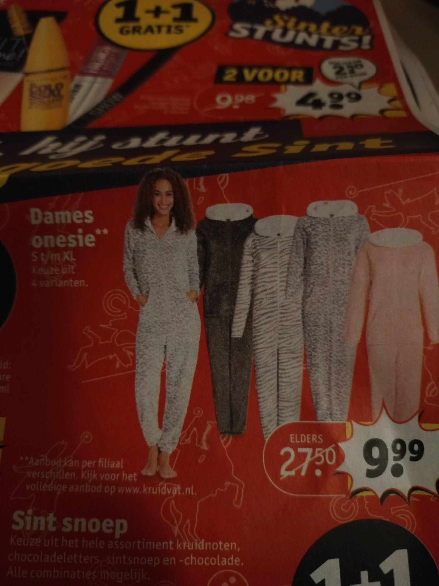 Kruidvat dames onesie