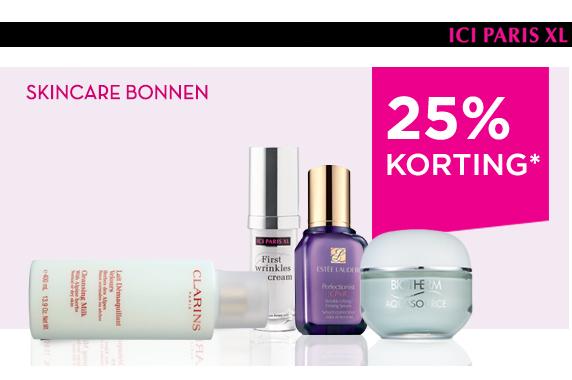 25% korting op crèmes, reiniging en serums @ Ici Paris XL