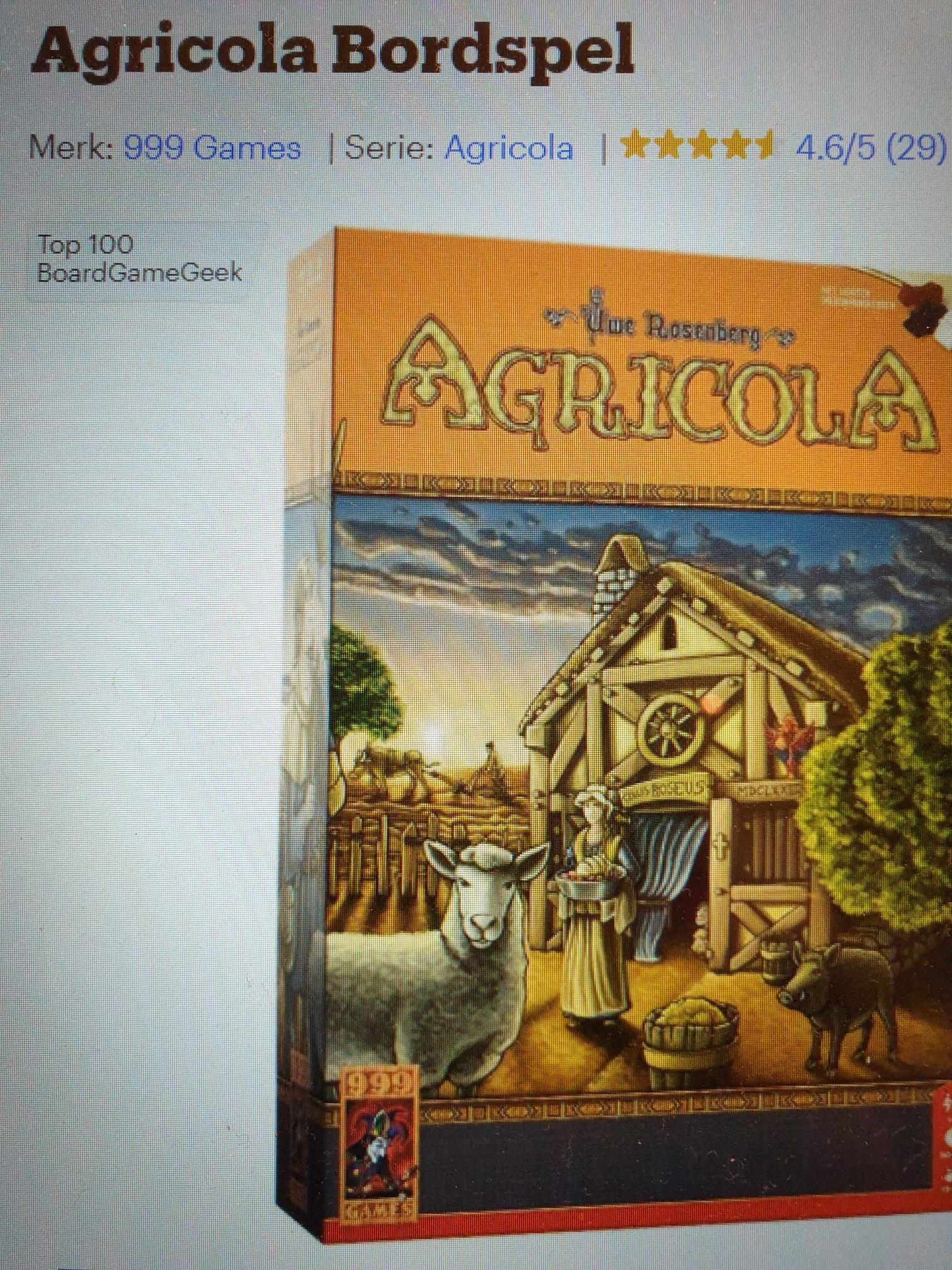 Bordspel Agricola voor laagste prijs dit jaar