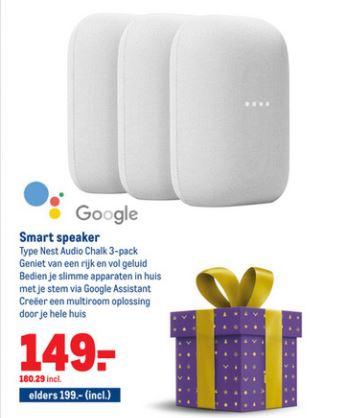 Google Nest Audio 3-pack @ Makro