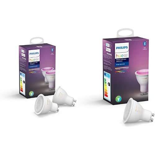 3x Philips Hue White & Color GU10 (ook E27 en E14 in beschrijving)