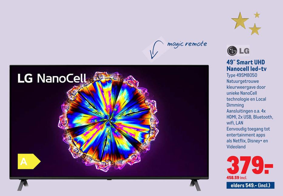 LG Nanocell 49SM8050 4K tv met HDR10