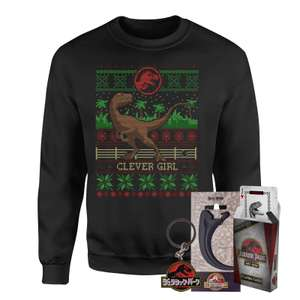 Kerst sweatshirt + 3 goodies van Jurassic Park, Star Wars, DC Comics, Harry Potter of Marvel voor €25,19