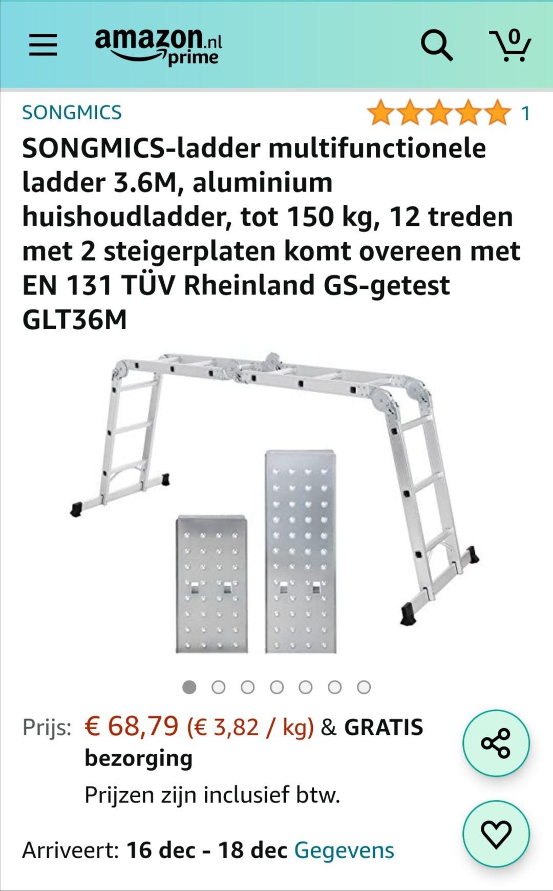 Multifunctionele ladder 3.6 meter