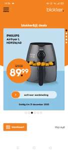 Philips airfryer L HD9216/40