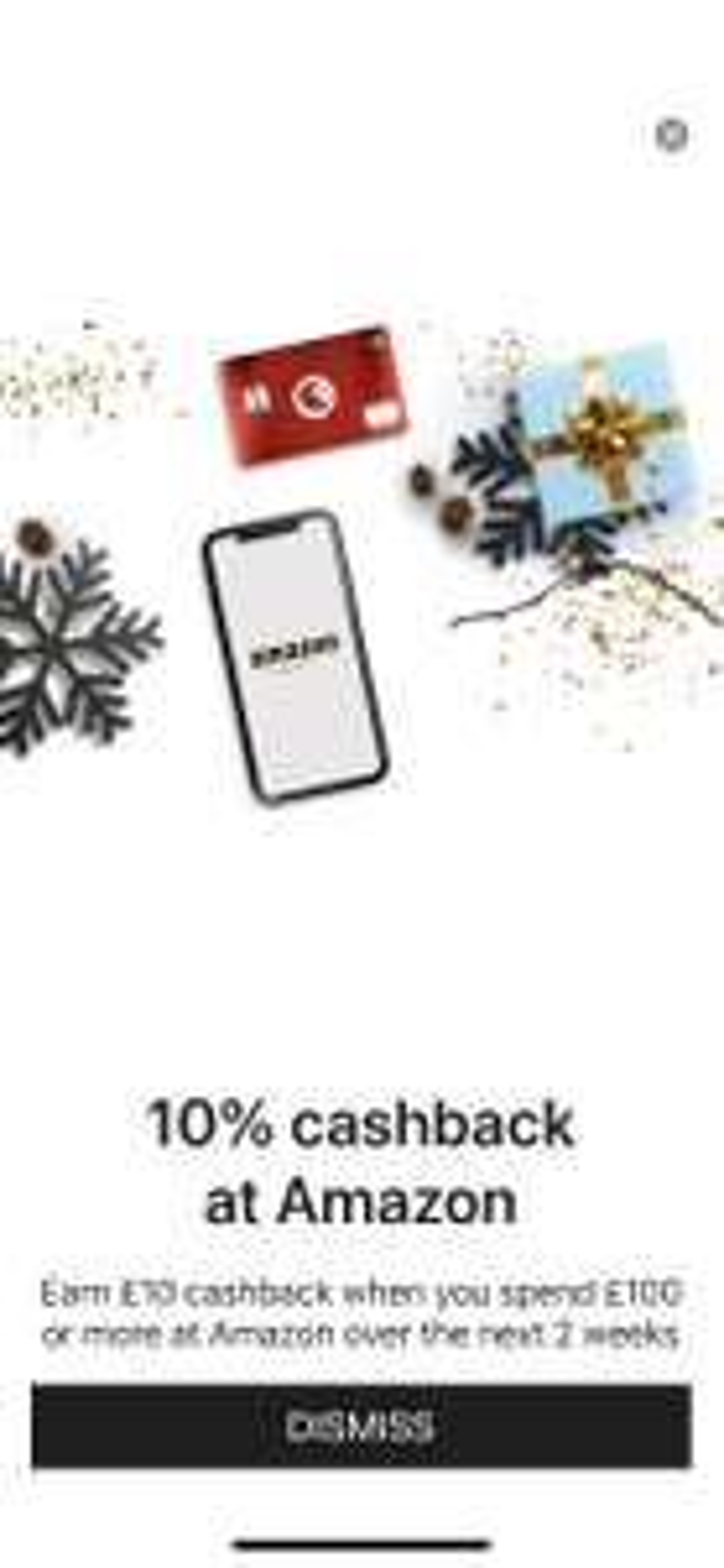 10% cashback (10 pond cashback) bij besteding van meer dan 100 pond met de Curve card