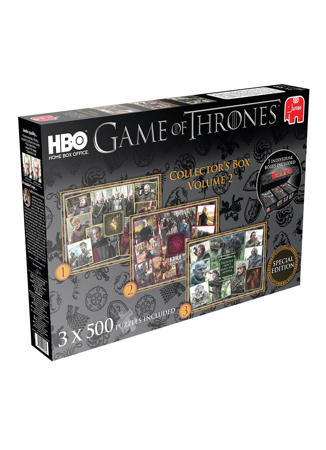Jumbo Game Of Thrones Collector's Box Puzzels (set van 3) €8,98 @ De Bijenkorf (elders €29,95)