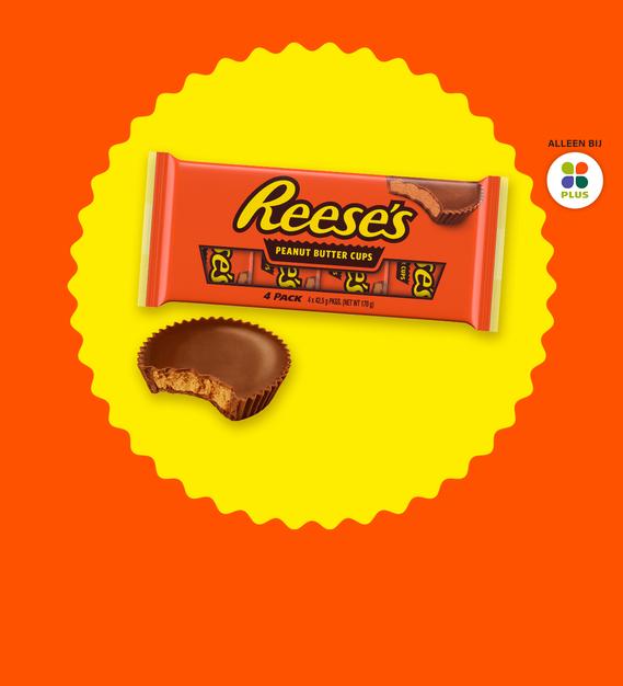 Reese's Peanut Butter Cups 4-pack: van €2,99* voor €1,- (alleen bij de plus via scoupy)