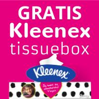 Gratis tissuebox + eigen tissueboxcover @ Kleenex