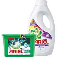 Ariel Pods Plus & vloeibaar wasmiddel (voor 14 wasbeurten): 1 + 2 Gratis @AlbertHeijn